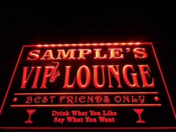 Custom Jazz bar sign Personalized name VIP lounge lights