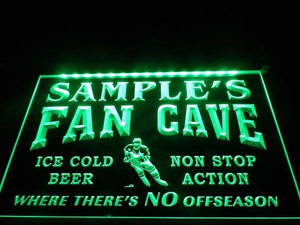 Man Cave Illuminated Signs : Custom mancave lighted sign hockey fan cave decor light