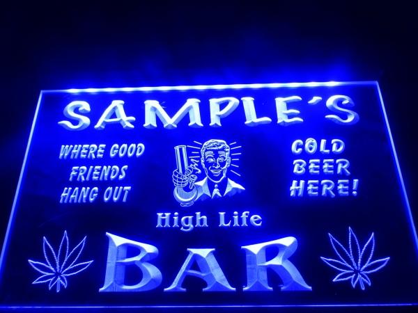 Custom name bar sign with lights high life beer lighted sign light custom name bar sign with lights high life beer lighted sign light signs cave aloadofball Image collections