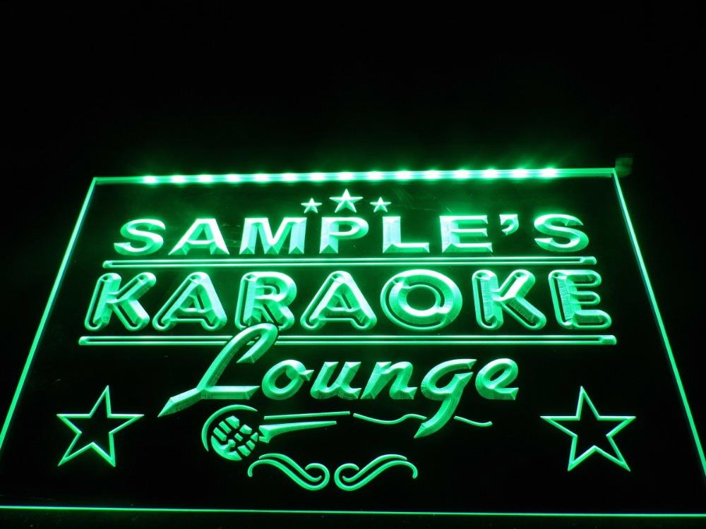 Personalized Karaoke Lounge lighted sign bar lights