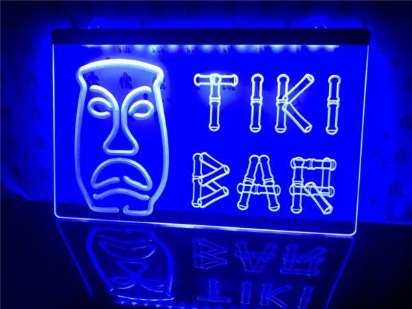Tiki Bar lighted sign Home bar LED wall hanging