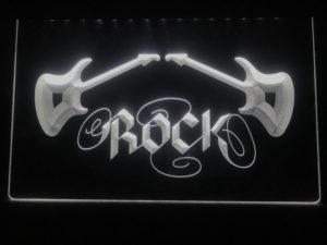 Rock n Roll lighted sign Music room guitar lounge LED decor 4
