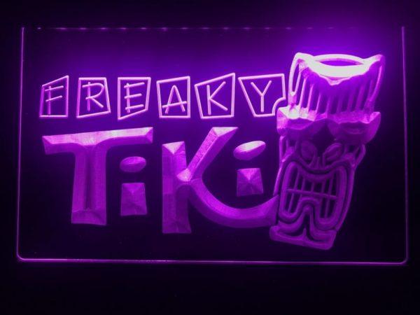 Tiki Bar lighted sign Freaky Mask bar pub LED signs 1