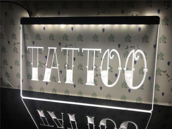 Tattoo Shop LED window sign Tatto lighted door display 3