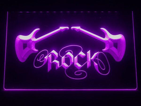 Rock n Roll lighted sign Music room guitar lounge LED decor 2