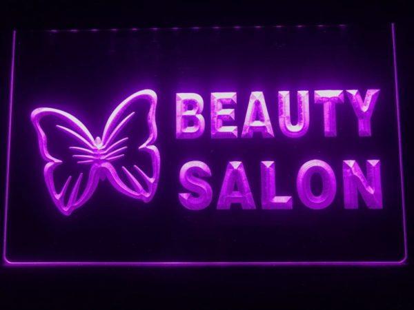 Beauty Salon LED sign Beauty shop lighted door open display 3
