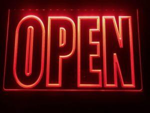 OPEN LED Display business door window lighted sign 3