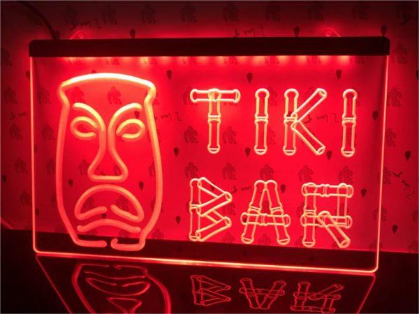 Tiki Bar lighted sign Home bar LED wall hanging 1
