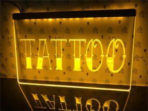 Tattoo Shop LED window sign Tatto lighted door display 4