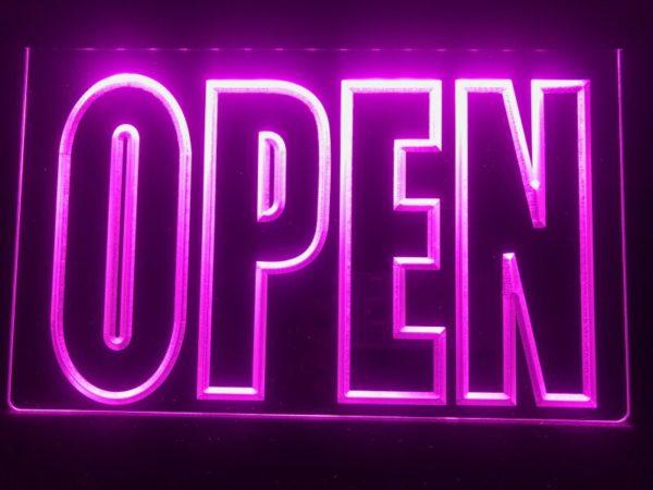 OPEN LED Display business door window lighted sign 2