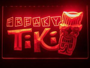 Tiki Bar lighted sign Freaky Mask bar pub LED signs 2