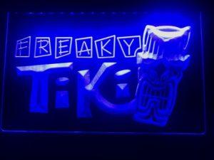 Tiki Bar lighted sign Freaky Mask bar pub LED signs 5