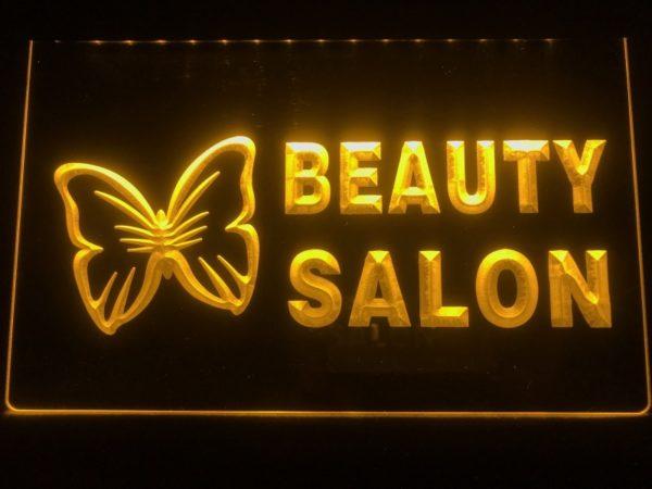 Beauty Salon LED sign Beauty shop lighted door open display
