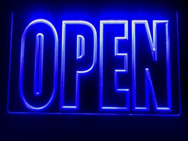OPEN LED Display business door window lighted sign 5