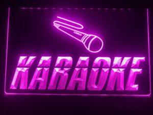 Karaoke lighted sign Game room karaoke Box LED display 3