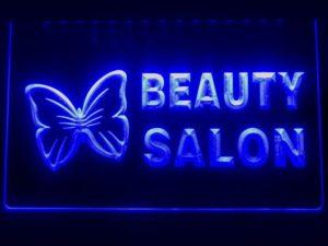 Beauty Salon LED sign Beauty shop lighted door open display 1