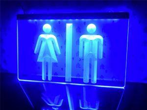 Toilet LED lighted sign Bar Pub shop WC lighted display 1