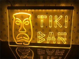 Tiki Bar lighted sign Home bar LED wall hanging 4