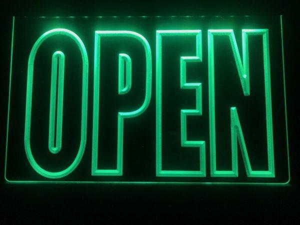OPEN LED Display business door window lighted sign
