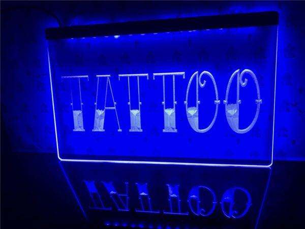 Tattoo Shop LED window sign Tatto lighted door display 5