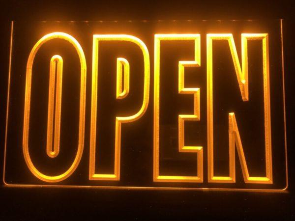 OPEN LED Display business door window lighted sign 1