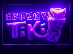 Tiki Bar lighted sign Freaky Mask bar pub LED signs 3