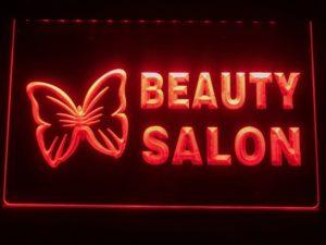 Beauty Salon LED sign Beauty shop lighted door open display 4