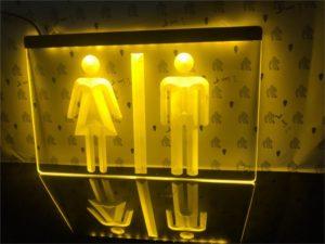 Toilet LED lighted sign Bar Pub shop WC lighted display