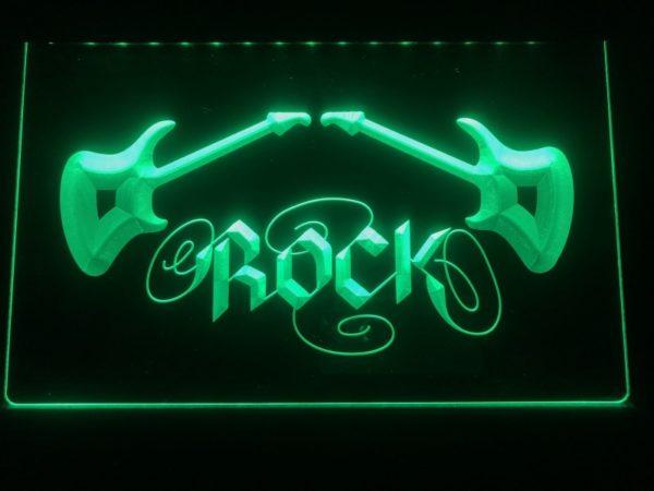 Rock n Roll lighted sign Music room guitar lounge LED decor 1