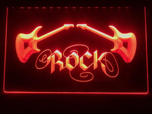 Rock n Roll lighted sign Music room guitar lounge LED decor 3