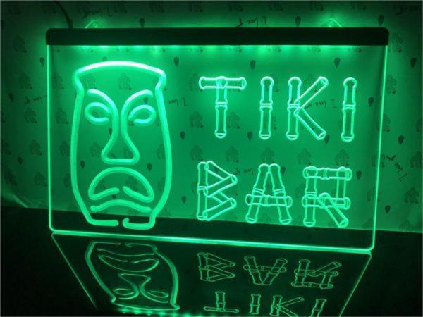 Tiki Bar lighted sign Home bar LED wall hanging 5