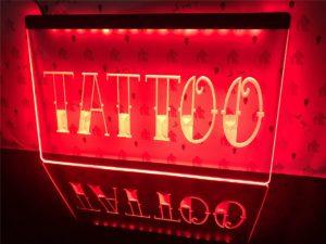 Tattoo Shop LED window sign Tatto lighted door display