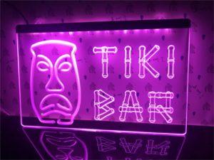 Tiki Bar lighted sign Home bar LED wall hanging 2