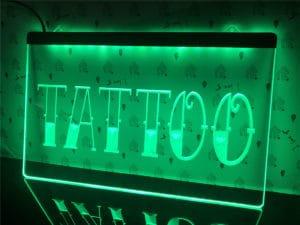 Tattoo Shop LED window sign Tatto lighted door display 1