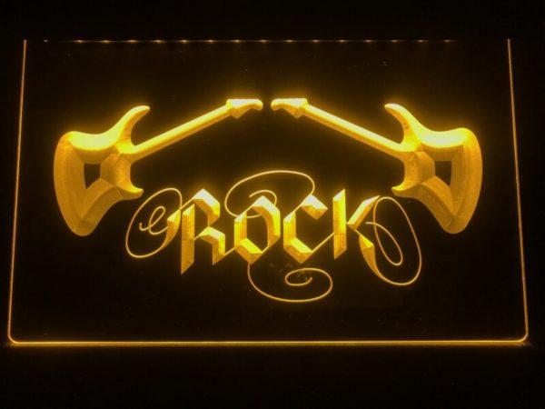 Rock n Roll lighted sign Music room guitar lounge LED decor 5
