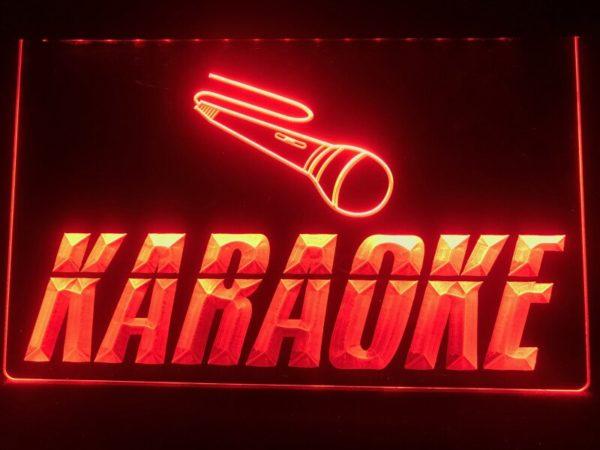 Karaoke lighted sign Game room karaoke Box LED display