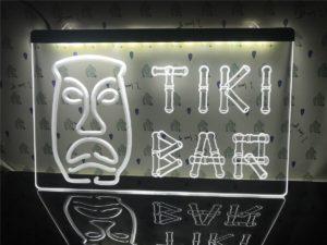 Tiki Bar lighted sign Home bar LED wall hanging 3