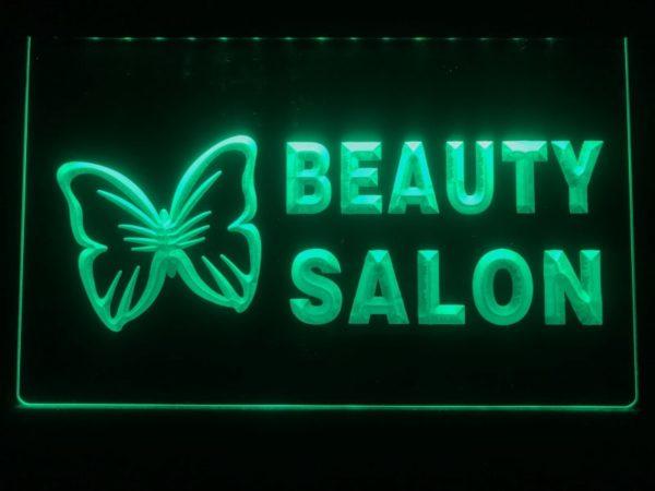 Beauty Salon LED sign Beauty shop lighted door open display 2