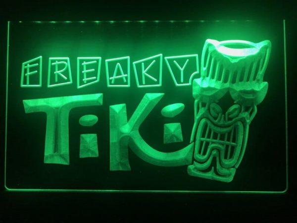 Tiki Bar lighted sign Freaky Mask bar pub LED signs