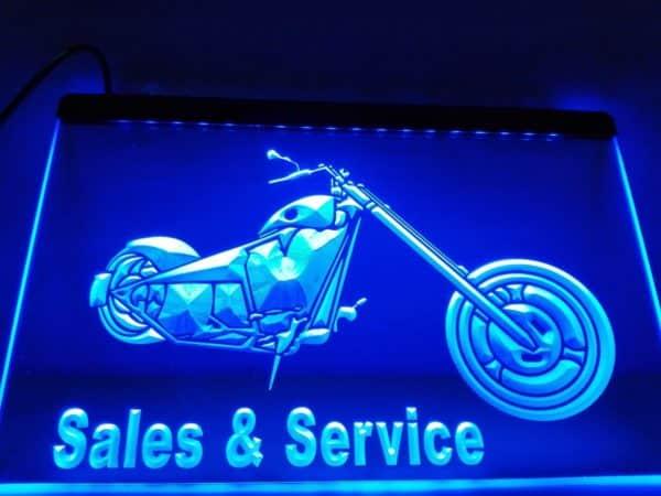 Motocylce store LED sign bikes garage lighted window display