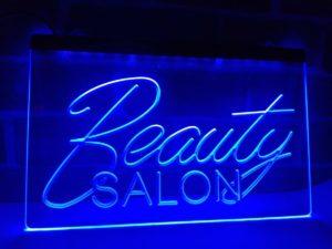 Beauty Salon open sign business LED light display 1