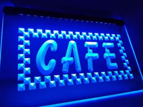 Cafe LED open sign coffee shop bistro lighted door sign 1