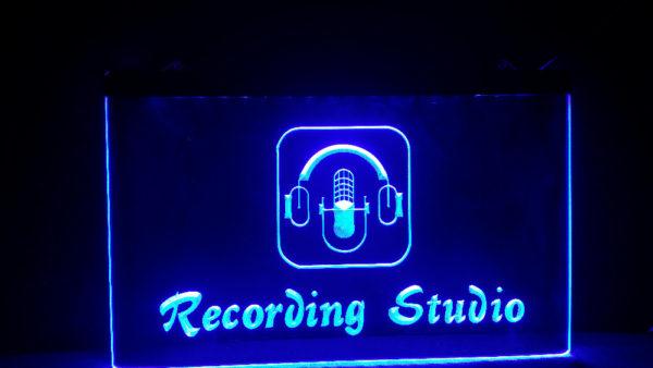 Recording Studio lit sign Music room LED Broadcasting sign