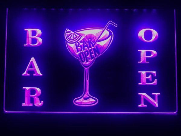Open bar LED sign bar pub lighted entry display 3
