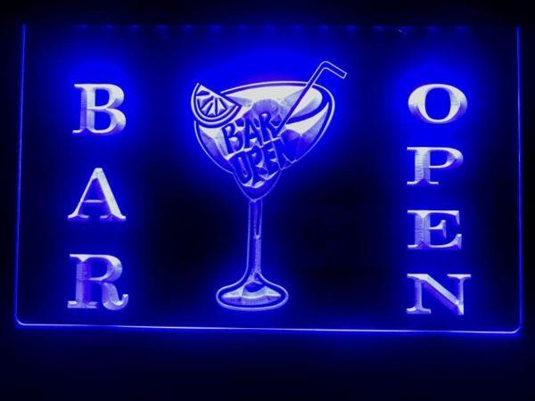 Open bar LED sign bar pub lighted entry display