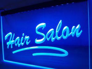 Hair Salon LED door sign hair shop lighted door display