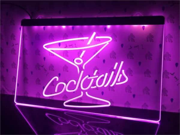 Cocktails Bar lighted sign bar pub LED door display 2