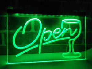 Open wine LED sign Cocktails Bar pub lights entry display 4