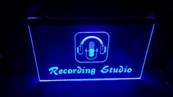 Recording Studio lit sign Music room LED Broadcasting sign 1