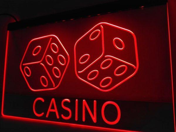 Casino LED sign Game room light wall decor